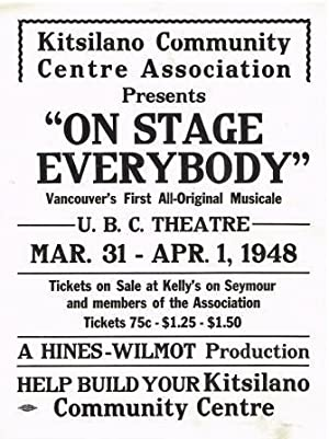 Poster Advertising a Musical Theatre Performance at UBC. 1948
