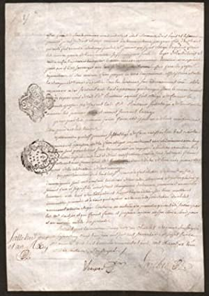 Old French Legal Document Dated 1767