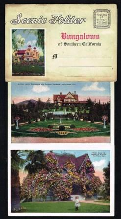 Scenic Folder; Bungalows of Southern California: PACIFIC NOVELTY