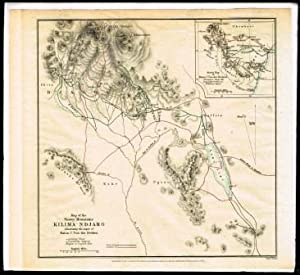 Map of the Snowy Mountains Kilima-ndjaro; Illustrating: ROYAL GEOGRAPHICAL SOCIETY