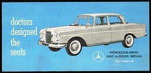 Doctors Designed the Seats; Mercedes-Benz 220 4-Door Sedan: MERCEDES-BENZ