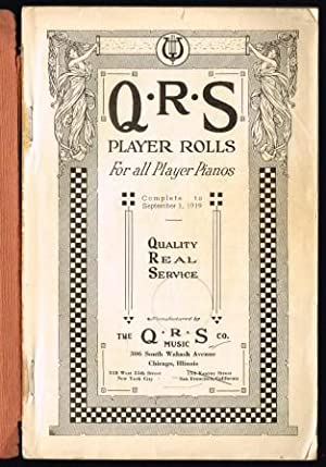 QRS Player Rolls for All Player Pianos, 1920