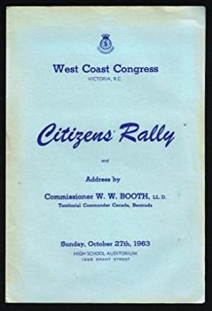 Citizens' Rally and Address By Commissioner W. W. Booth