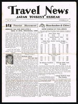 Travel News; Japan Tourist Bureau, November 15,: JAPAN TOURIST BUREAU