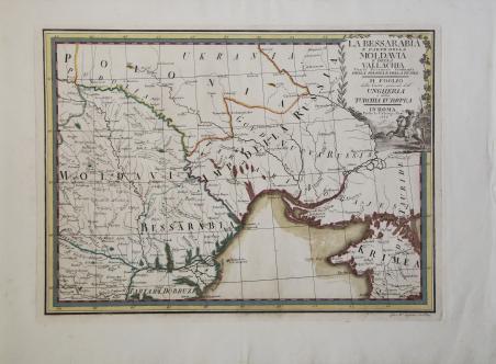La Bessarabia e parte della Moldavia e della