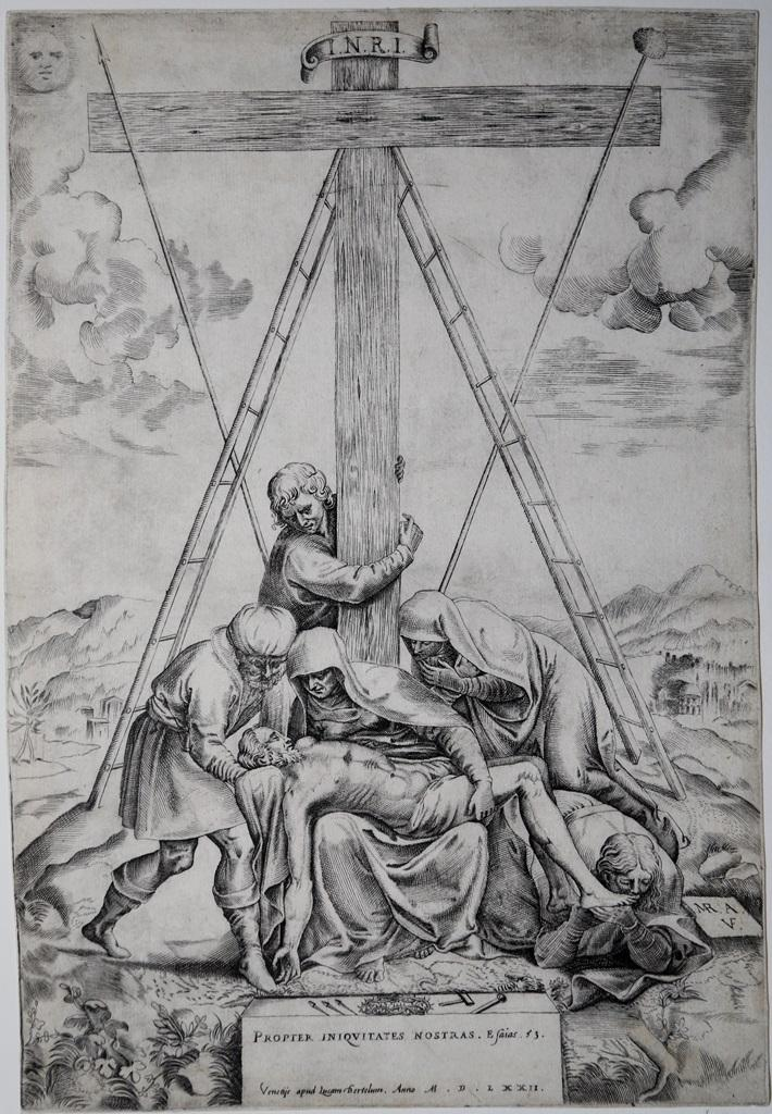 Compianto ai piedi della croce Marco Angolo del Moro