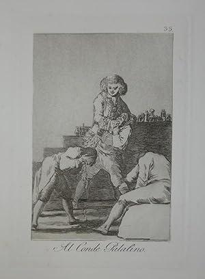 Al Conde Palatino: Francisco de GOYA