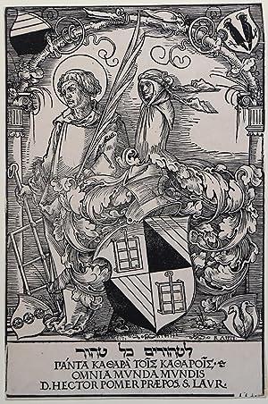 Ex-libris di Hector Poemer: Albrecht DURER