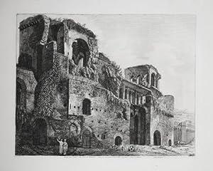 Veduta degl'avanzi delle Torri di Belisario. Dalla porta che guarda l' interno della città,...