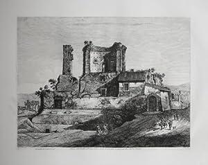 Veduta del castello dell'Acqua Giulia, secondo lo: Luigi ROSSINI