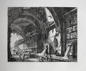 Veduta del condotto dell'Acqua Vergine situato alla: Luigi ROSSINI