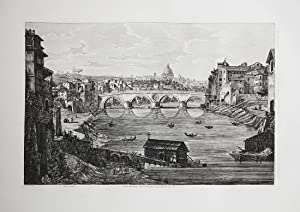 Veduta dell'Antico Ponte Janiculense ristaurato da Sisto IV: Luigi ROSSINI