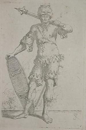 Soldato con mazza ferrata e scudo: Salvator ROSA