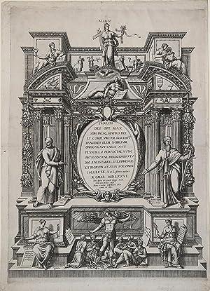 Frontespizio della collezione sacra lafreriana: Antonio LAFRERI