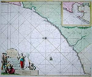 Paskaart van de kust van MAROCA: Johannes van KEULEN