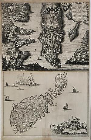 Valetta Civitas Nova Maltae & Melita Insula: Olfert DAPPER