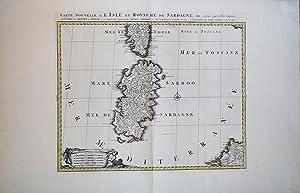 Carte Nouvelle de l Isle et Royaume de Sardagne: Pierre MORTIER
