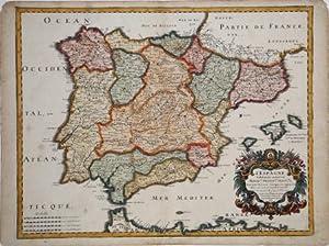 L'Espagne subdivisée en tous ses Royaumes, Pinciptés, Seignries, & Exactem. Reveue, ...