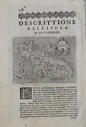 Descrittione dell'isola di San Lorenzo: Tommaso PORCACCHI