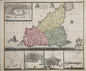 Insula sive Regnum Siciliae.: Frederick de WIT
