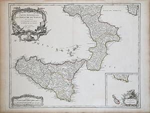 Partie Meridionale du Royaume de Naples ou se trouvent la Calabre et l'Isle et Rayaume de ...