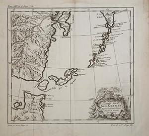 Carte des Isle Kouriles dapres la Carte Russe: Jacques Nicolas BELLIN