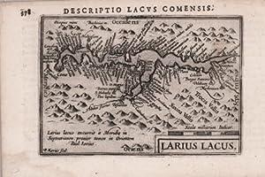 Larius Lacus: Pieter van den Keere detto KAERIUS