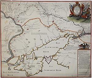 Charte der Kriegs Operationen am Donn und Dnieper. Ihro Russisch Key Serl: Maiesty: gloriousen ...