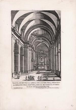 Veduta di dentro la Chiesa con l'altare: Giovanni Battista FALDA
