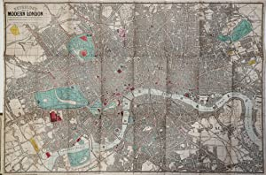 Reynold's Map of Modern London Divided into Quarte-Mile Selections for Measuring Distances.