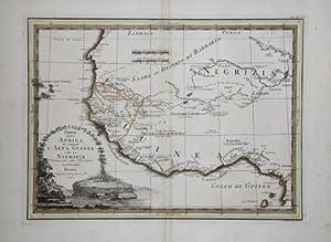 Parte dell'Africa che comprende l'Alta Guinea con la Nigrizia delineata sulle ultime ...