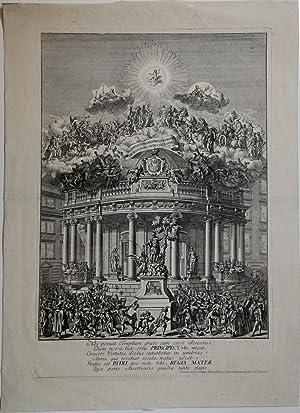 Tempio con fontana a vino, eretto a Vienna in occasione della nascita di Giuseppe II.: Salomon ...