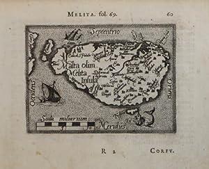 Malta olim Melita Insula: Abraham Ortelius &