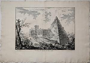 Veduta del Sepolcro di Caio Cestio: Giovan Battista PIRANESI