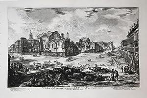 Veduta degli avanzi superiori delle Terme di Diocleziano: Giovan Battista PIRANESI