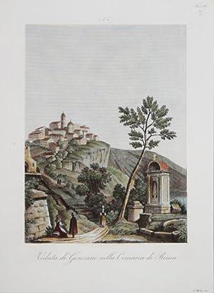Veduta di Genzano nella Comarca di Roma: Attilio ZUCCAGNI ORLANDINI
