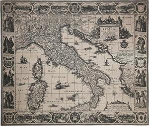Tabula Italiae, Corsicae, Sardiniae et adjacentium Regnorum: Claes Jansz VISSCHER