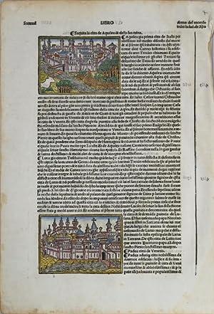 Padua citta de Venetia & Sequita la citta d Aquilea & della ruina: Jacopo FORESTI