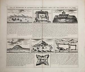 Vue et Description De Quelques-Uns Principaux Forts des dans Hollandois dans les Indes.: Henri ...