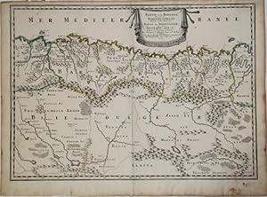 Partie de la Barbarie, ou est le Royaume d'Alger divise en ses Provinces…: Nicolas SANSON d ...