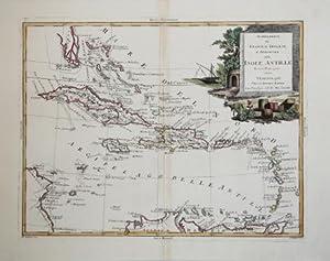 Stabilimenti de Francesi, Inglesi, e Spagnuoli nelle Isole Antille Di nuova Proiezione: Antonio ...