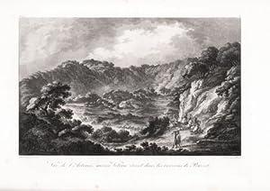 Vue de l Astruni, ancien Volcan éteint dans les environs de Pouzzol: Richard de SAINT NON