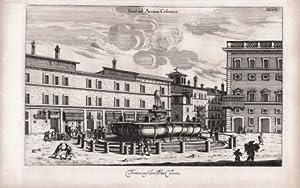 Fontan auf dem Platz Colonna: Joachim von SANDRART