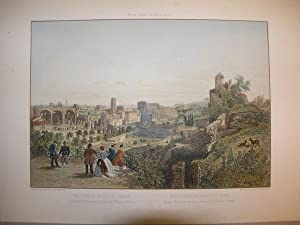 Veduta Presa dal Palazzo de Cesari Colosseo, Basilica di Costantino e Chiesa di S.a Francesca ...