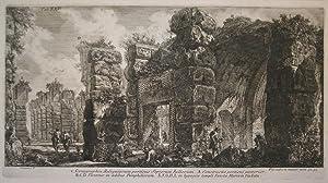Scenographia Reliquiarum porticus Septorum Iuliorum. A. Constructio porticui posterior. B,C,D ...