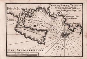 Plan de Porto Vecchio en l'Isle de Corse: Henry MICHELOT & Laurent BREMOND