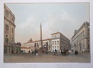 Piazza di Monte Cavallo e palazzo pontificio del Quirinale: Felix BENOIST