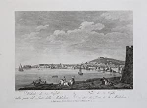 Veduta di Napoli dalla parte del Ponte della Maddalena: Vincenzo Aloja