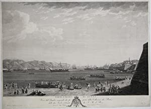 Porto, e badia di Gaeta. Preso dal Quadro originale che fa parte della Collezione dei Porti delle ...