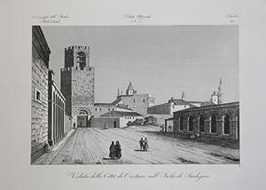 Veduta della Città di Oristano nell'Isola di Sardegna: Attilio ZUCCAGNI ORLANDINI